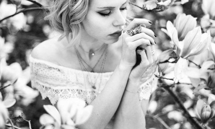 Shooting portrait femme fleurie